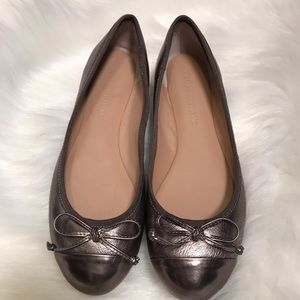 Banana Republic Ashley metallic bow flat Sz 6